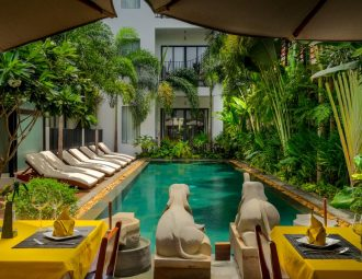 Pool and Bar/Restaurant area at the Thirdfold Residence