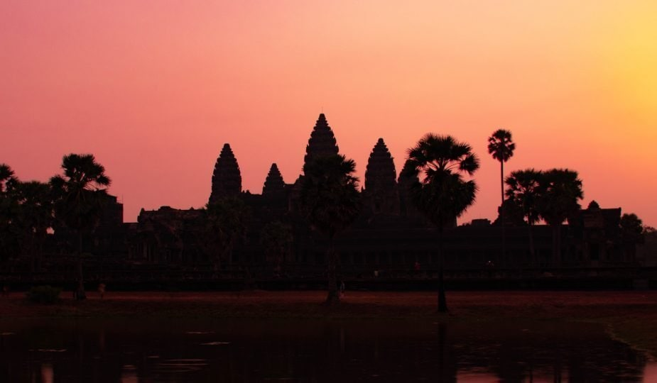 A beautiful Sunrise at Angkor Wat