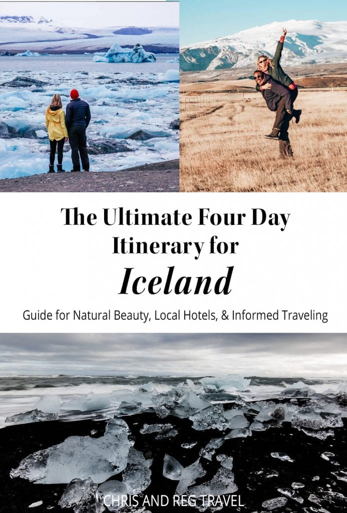 Need an itinerary for Iceland? This is the ultimate guide for four days in Iceland! Check out all the amazing sights to see and places to stay as a conscious traveler for the best tourist and off-the-beaten-path adventures Iceland has to offer