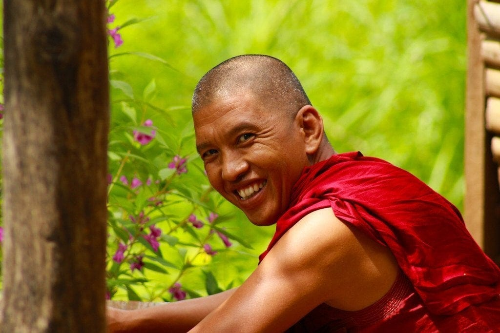 Happy Monk in Myanmar