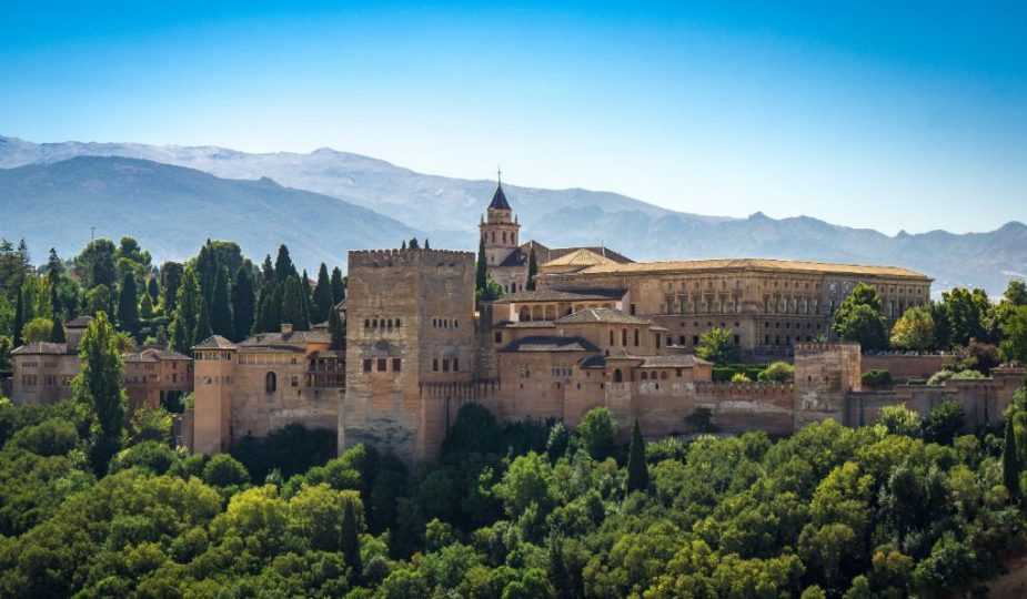 Alhambra in Granada, Spain. Best Cities in Western Europe