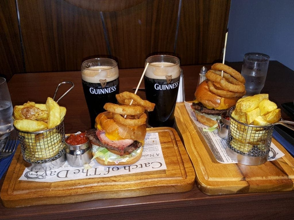 Guinness Beer and Burgers Temple Bar Dublin. Western Europe Travel Guide