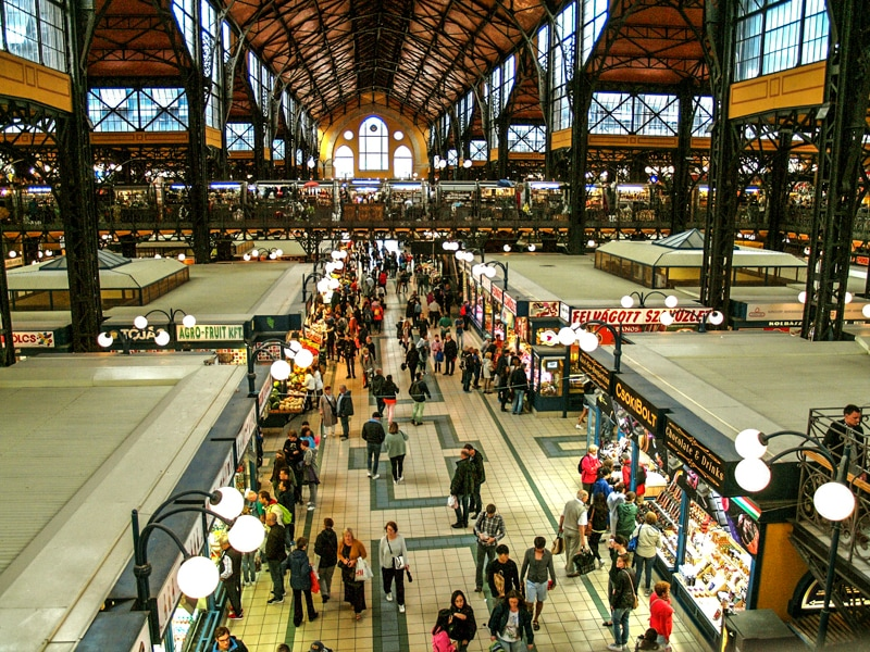 Great Central Market a great place to visit if you have 3 days in Budapest