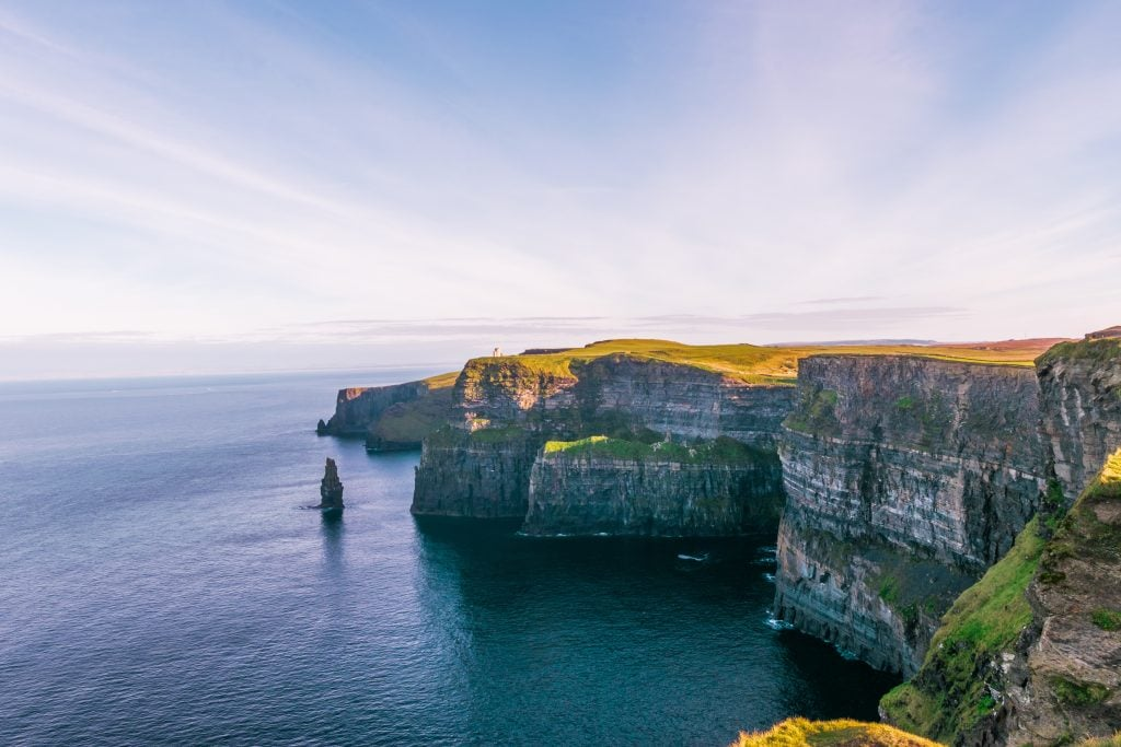 Cliffs of Moher in Ireland. Romantic Vacation spots