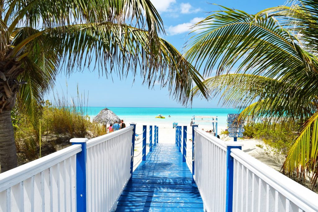 Boardwalk to the beach in Jamaica a romantic vacation spot