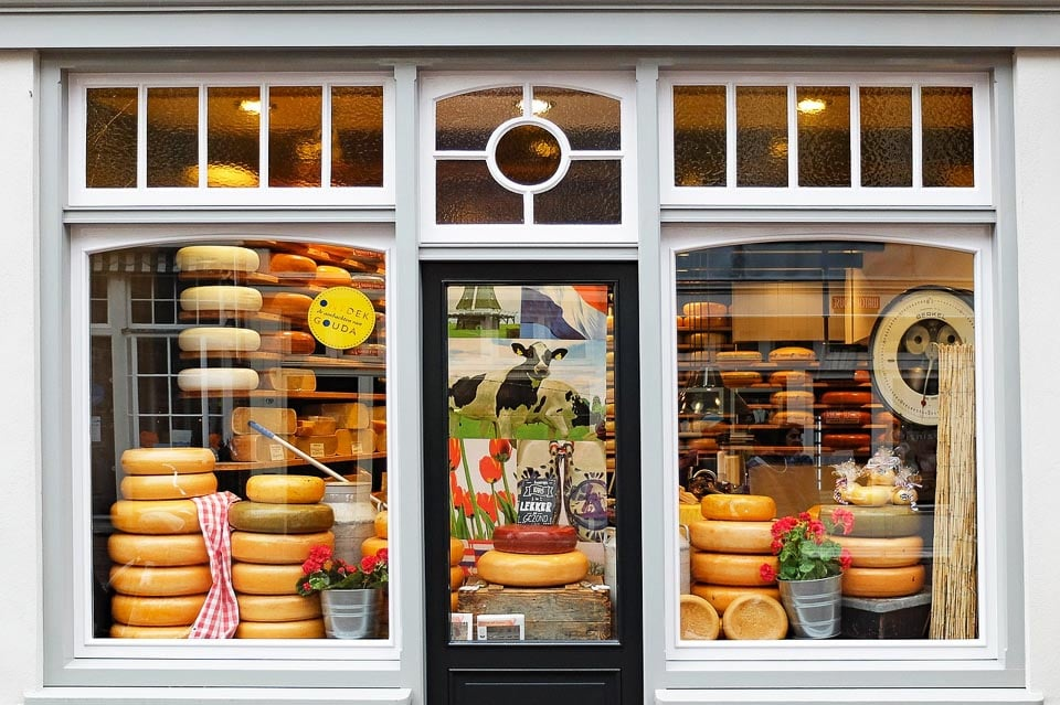 Seasonal Cheese Market of Gouda the Dutch City