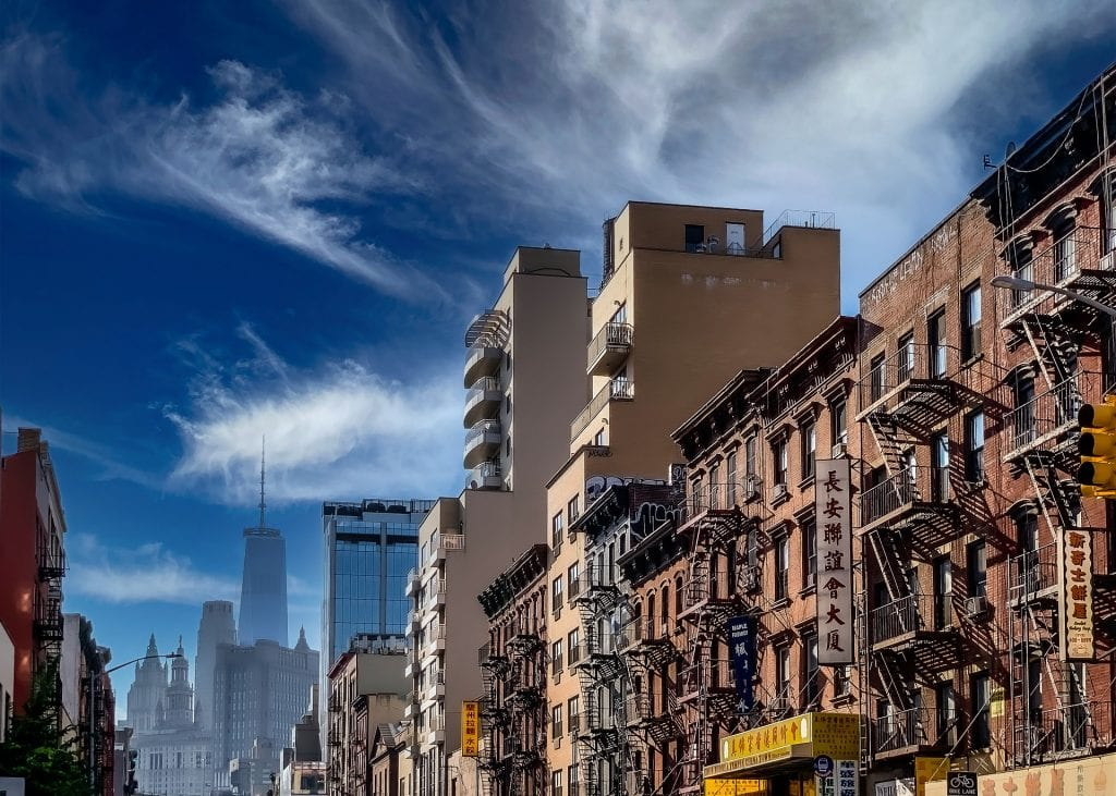 buildings in Chinatown, NYC; most diverse cities in America
