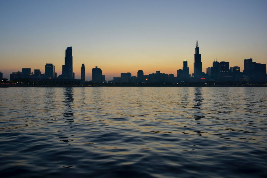 Chicago from Lake Michigan; fall road trips
